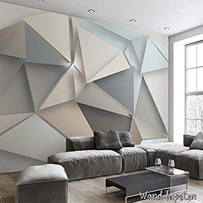 VLIES FOTOTAPETEN - WANDTAPETEN WANDBILDER 3D-DREIECK MODERNE IKEA ...