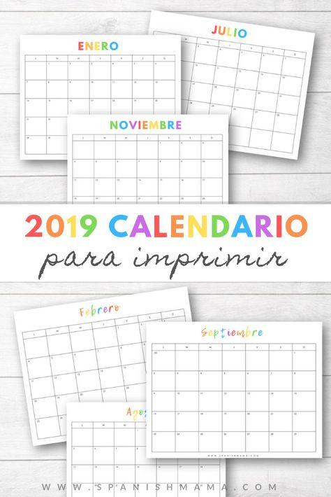 Calendario Rainbow.Pinterest