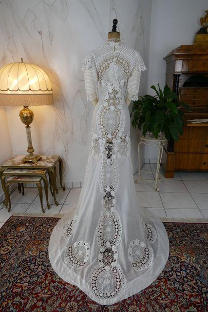 Irish Crochet Dress Ca 1904 Www Antique Gown Com Crochet