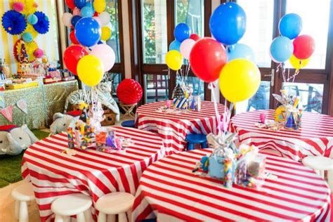 Image Result For Circus Table Decorations Carnival Birthday Party Theme Circus Birthday Party Theme Dumbo Birthday Party