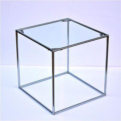 Minimalistischer Vintage Beistelltisch Aus Chrom Glas Von Poul Cadovius Fur Abstracta System 1 Vintage Beistelltische Tisch Und Minimalistisch