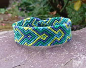 festival wristband woven tribal anklet hippie bracelet Green Friendship Bracelet knotted wristband boho cotton anklet braided anklet