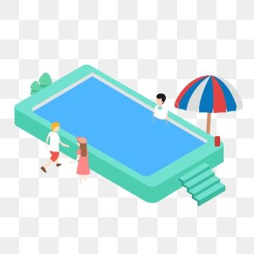 2 5d Stereo Swimming Pool Summer Seaside Vacation Travel Swimming Pool Clipart Summer 25d Png And Vector With Transparent Background For Free Download Vacation Trips Desktop Wallpaper Summer Beach Trip