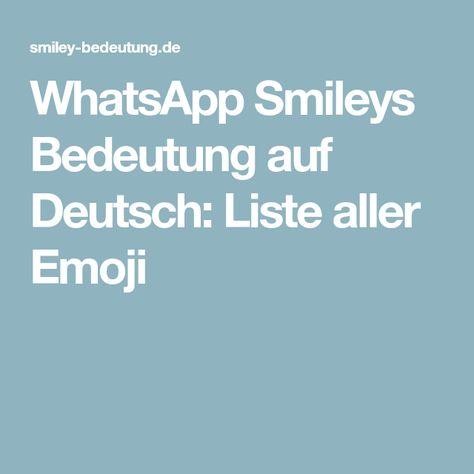 Smiley Bedeutung Deutsch