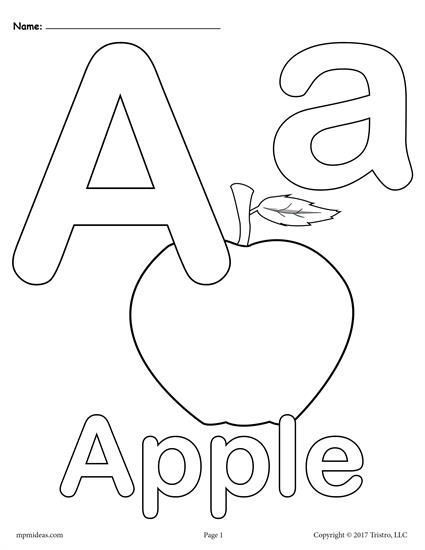 Letter A Coloring Pages 3 Printable Alphabet Coloring Pages Abc Coloring Pages Alphabet Coloring Pages Abc Coloring