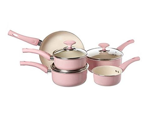 Pin By Ansley Hamlin On Cookware And Bakeware Pan Set Pink Home