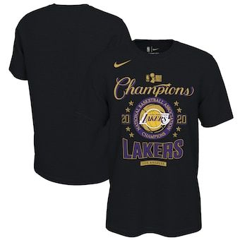 Los Angeles Lakers Nike 2020 Nba Finals Champions Locker Room T Shirt Black In 2020 Los Angeles Lakers Nba Outfit Lakers