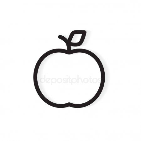 Apple Outline Food Fruit Apple Apple Outline Png Html Apple Coloring Pages Fruit Coloring Pages Apple Coloring