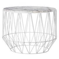 Beistelltisch metall draht weiß  Bloomingville Tisch weiß Marmor-Metall | Marmor | Pinterest ...