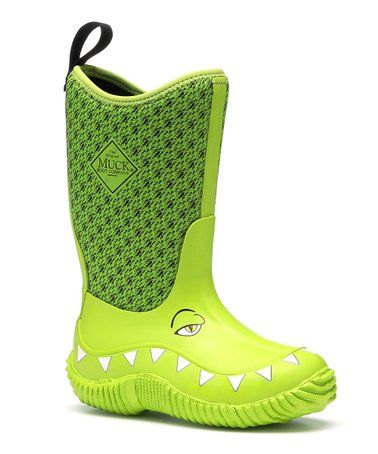 005808dfcea Look at this #zulilyfind! Green Gator Hale Rain Boot - Kids ...