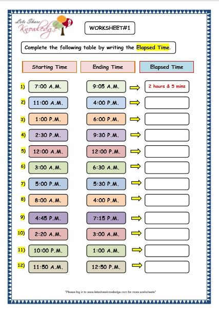 Grade 3 Maths Worksheets Elapsed Time With Answers Free Worksheets Printout Or Pin It Elapsed Time Worksheets Time Worksheets Grade 3 Maths Worksheets
