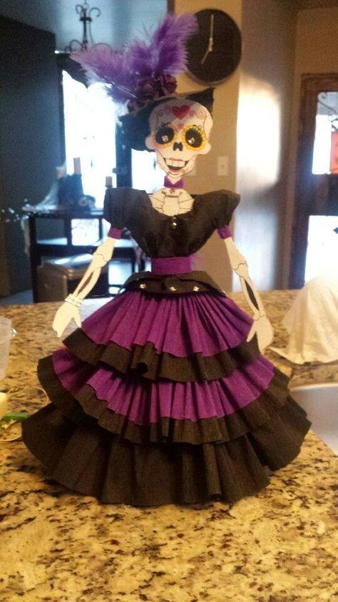 Como Vestir Calavera Con Papel Crepe Estilo Veracruz