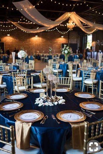 Stolovanie Svadobna Vyzdoba Wedding Decorations Svadobne Stoly Svadobne Napady Svadobne Inspiracie Wedding Inspirations Blue Gold Wedding