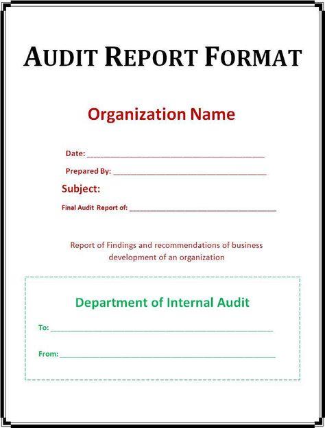 Internal Audit Report Template Word Imagen891 Sampleresume