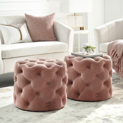 Swell House Of Hampton Mucha Tufted Cube Ottoman In 2019 Round Inzonedesignstudio Interior Chair Design Inzonedesignstudiocom