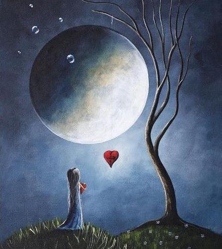 16 Idees De Clair De Lune Clair De Lune Peinture Paysage D Hiver Peinture Hiver
