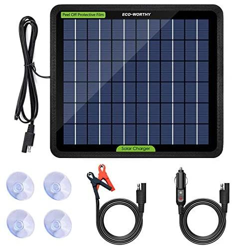 Eco Worthy 12 Volts 5 Watts Solar Trickle Charger For 12v Batteries Portable Power Solar Panel Battery Ch In 2020 Solar Panel Charger Solar Panel Battery Solar Battery