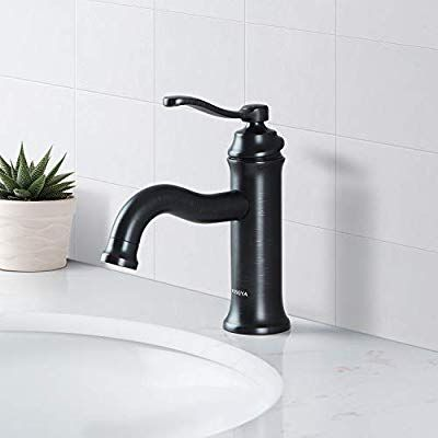 Aosgya Bathroom Faucet Matte Black Antique Single Handle Bathroom Sink Faucets One Hol Bathroom Sink Faucets Vanity Basin Single Handle Bathroom Sink Faucets