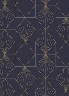 011ff283 Tapet med grafisk mønster - 366072 in 2019 | Patterns | Lines | Wallpaper,  Retro tapet, Decor