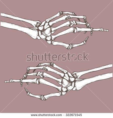 Skeleton Finger Pointing Vector Hand Drawn Illustration Skeleton Finger How To Draw Hands Vector Hand
