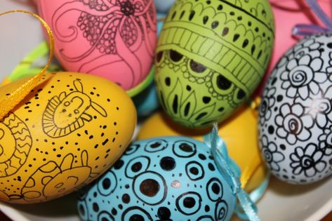 Zentangle Easter Eggs