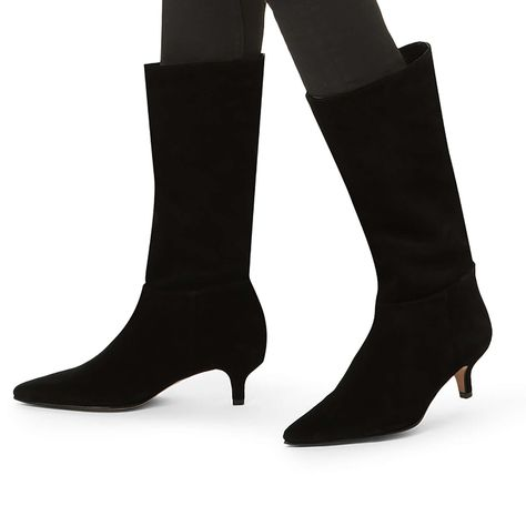 c5aaba45222 Shop SURROUND Wine Suede Kitten Heel Boots by CARVELA at official Kurt  Geiger Site.