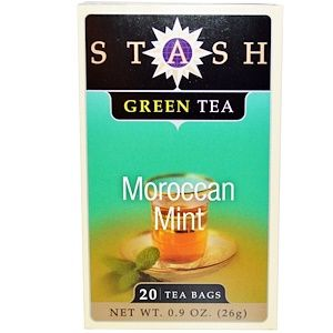 Stash Tea 緑茶 モロッカンミント 20ティーバッグ 0 9オンス 26 G Stash Tea Green Tea Green Tea Bags