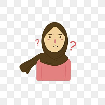 Confused Hijab Girl Portrait Illustration Confused Clipart Confused Background Png And Vector With Transparent Background For Free Download Portrait Illustration Portrait Girl Girls Cartoon Art