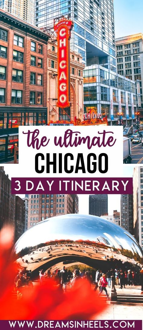 Looking for the perfect 3 day Chicago Itinerary? Chicago is one of America's most iconic cities and there are plenty of amazing things to do. This post will help you to get the most out of your visit with a list of the best things to do in Chicago in three days. This 3 days in Chicago itinerary is curated by a local. | Chicago aesthetic | Chicago skyline | Chicago photography | Chicago itinerary | Visit Chicago travel tips | USA Travel | visit Chicago food | visit Chicago things to do | #Chicago Visit Chicago, Chicago Travel, Chicago Vacation, Chicago Chicago, Usa Travel Guide, Travel Usa, Travel Tips, Chicago Things To Do, Ecuador