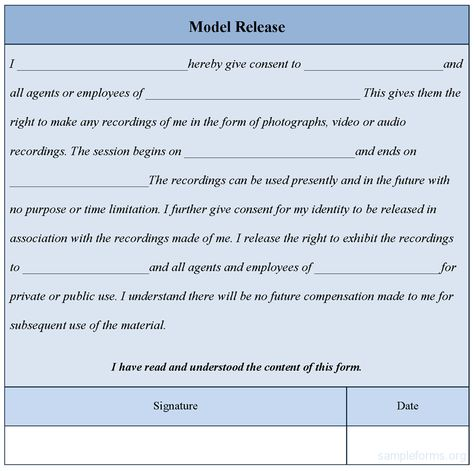 Photo Release Form Template Download Editable Model Release Form - model release form in pdf