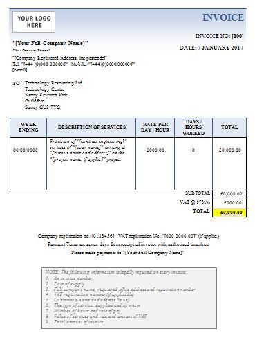 Sample Contractor Invoice templates , Printable Invoice Template - invoice contractor