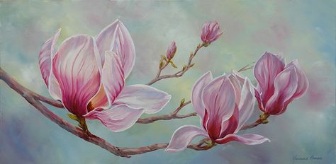 Pink Magnolias - Marianne Broome