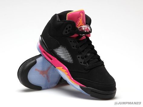 huge discount 2d014 aeb10 Air Jordan 5 GS - Black Bright Citrus-Fusion Pink Online available saturday  mei 11th   Nike online store Source  Jumpman23
