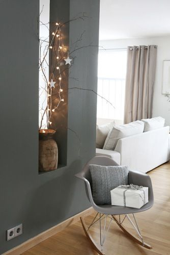 La chaise Eames mur gris