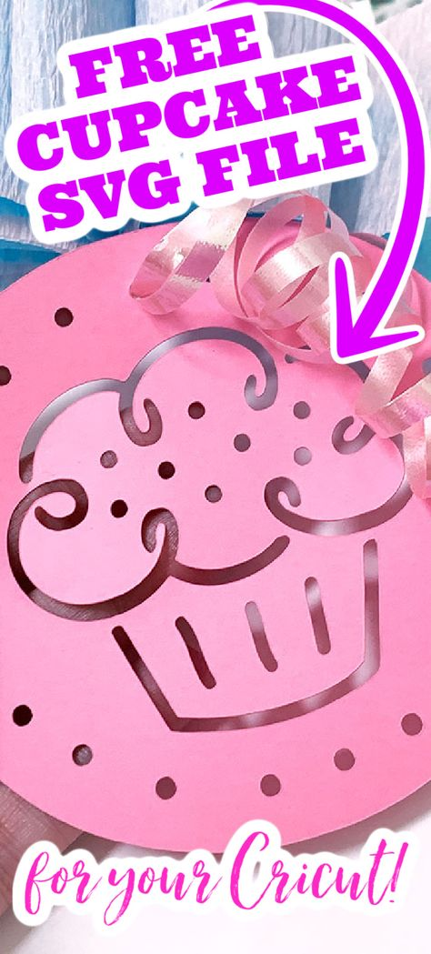 Grab this free cut file and use it to make gift tags and so much more! This one is perfect for crafting for any birthdays that are coming up! #cupcake #svg #freesvg #svgfile #cutfile