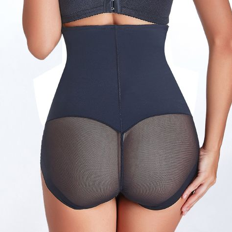 2f64c68fe14 High Waist Tummy Control Mesh Butt Hip Lifting Shapewear