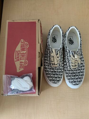 Fear Of God Fog Vans Era 95 Reissue Size 11 5 100 Marshmallow Black In 2020 Vans Vans Off The Wall Things To Sell