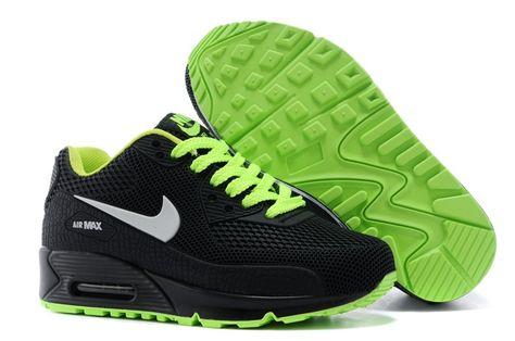 lowest price 74e86 dada3 Nike Air Max 90 KPU TPU Uppkopplad Svart Vit Grön for Kids Skor