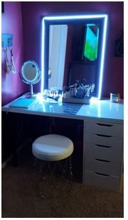 Dressing Table Mirror With Led Lights Dream Rooms Led Lighting Bedroom Room Goals
