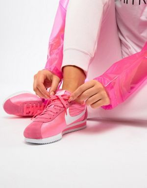 Nike Pink With Swoosh Suede Cortez