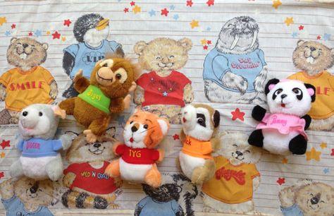 Shirt Tales, Tyg, Pammy, Rick, Digger, Bogey, Bed Sheet, Mom Favorite Planter, Plate, Lovable Cubby Bear, Stuffed, Hallmark, 1980's, Vintage