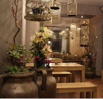 Schöne Einrichtung im Berliner Sushi-Restaurant
