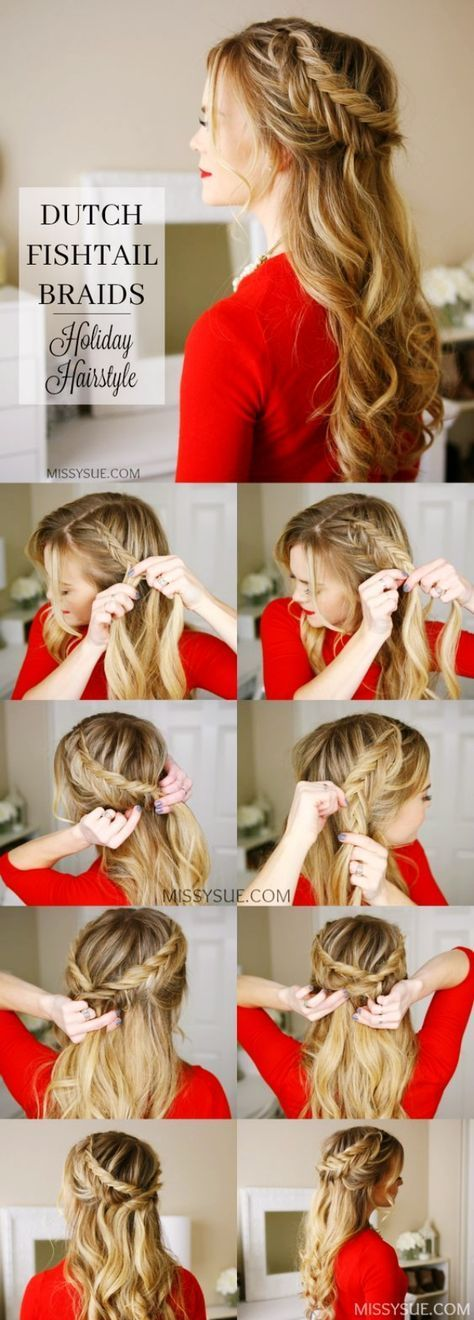 Déesse grecque-demi-up-moitié-bas-coiffures