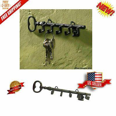 Keys Rack Holder Wall Mount Key Shaped w// Hook Storage Organizer Home Hanger NEW