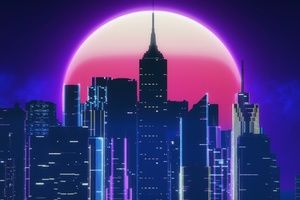 Synthwave City Retro Neon 4k Wallpaper City Wallpaper Vaporwave Wallpaper Synthwave
