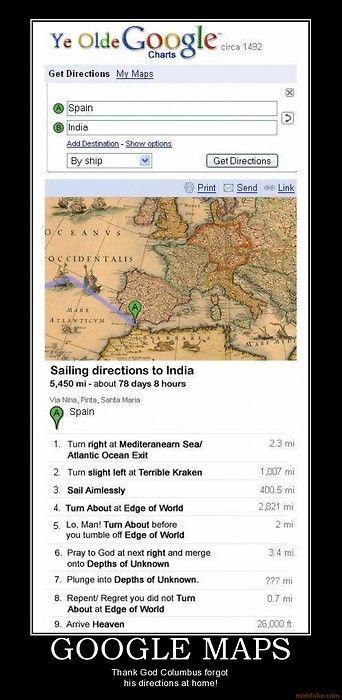 If Christopher Columbus Had Google Maps Cartophile Pinterest - Columbus maps google