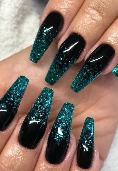 73 Popular Gel Glitter Coffin Nail Designs 2019 Lecker Site In 2020 Pretty Acrylic Nails Glitter Nail Art Winter Nails Acrylic