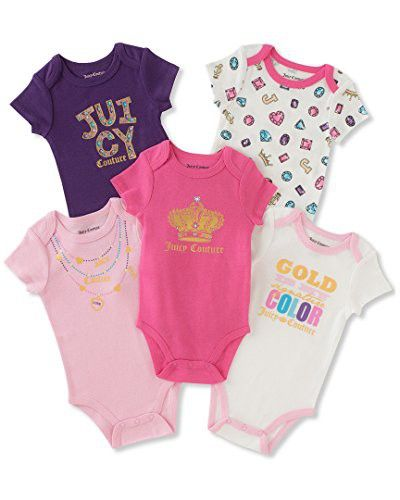 Juicy Couture Baby Girls 5 Pack Bodysuits Juicy Couture Baby Baby Couture Juicy Couture