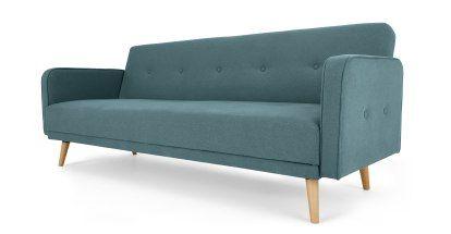 Chou Click Clack Sofa Bed Sherbet Blue Made Com In 2020 Sofa Bed Blue Sofa Bed Office Sofa Bed