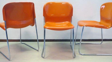 Chaise Plastique Laqué Orange' Gerd Lange 1970 | Chaise